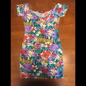 UO Motel Floral Bodycon Dress S